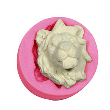 kek dekorasyon aslan kalıp silikon aslanlar fondan şeker el sanatları takı çikolata pmc reçine kil kalıp kafa