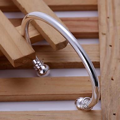 Femme Bracelets Rigides - Argent sterling Bracelet Argent Pour Mariage Soirée Quotidien