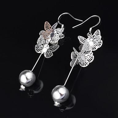 Σκουλαρίκι Κρεμαστά Σκουλαρίκια Κοσμήματα 2pcs Γάμου / Πάρτι Τιτάνιο Ατσάλι Γυναικεία Ασημί