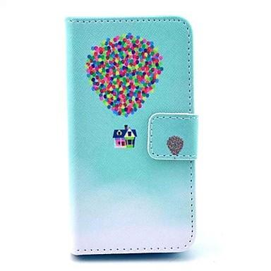 Iphone 4/4S/Iphone 4 - Hoesje met standaard/Full Body hoesjes - Grafisch/Speciaal Design/Nieuwigheid (Multi-kleur , Pu-Leder)
