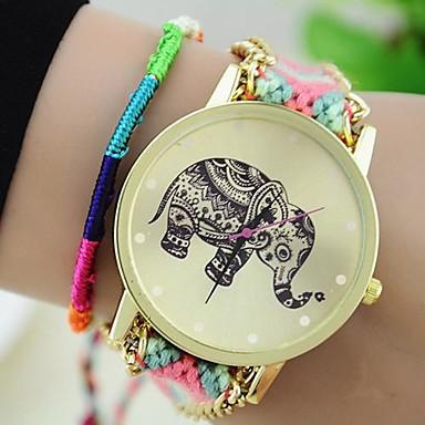 Dames Armbandhorloge Modieus horloge Kwarts Vrijetijdshorloge Stof Band Bohémien Meerkleurig