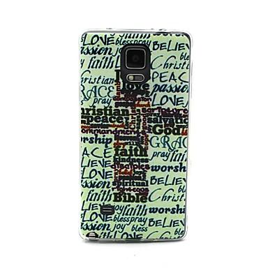 Voor Samsung Galaxy Note Patroon hoesje Achterkantje hoesje Woord / tekst TPU Samsung Note 4