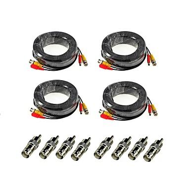 ANNKE® Kablolar 4Pcs 100ft Audio Video Power Security Camera Extension Cables with Bonus BNC RCA Connectors için Güvenlik Sistemler 3000cm