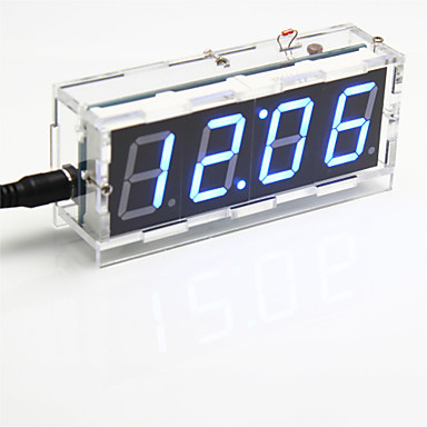 DIY 4-ψηφίων οθόνη επτά τμημάτων κιτ ψηφιακή φως ελέγχου επιτραπέζιο ρολόι (μπλε φως)