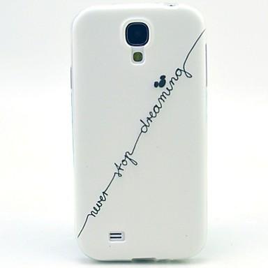 Para Samsung Galaxy Capinhas Estampada Capinha Capa Traseira Capinha Palavra / Frase TPU Samsung S4 Mini