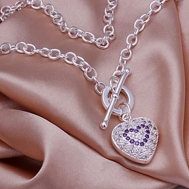 Kettingen Hangertjes ketting Sieraden Bruiloft / Feest / Dagelijks / Causaal Sterling zilver Zilver 1 stuks Geschenk