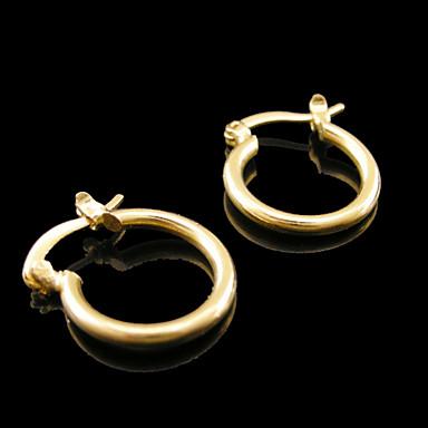 Brincos Curtos Chapeado Dourado Jóias Para Casamento Festa Diário Casual Esportes 2pçs