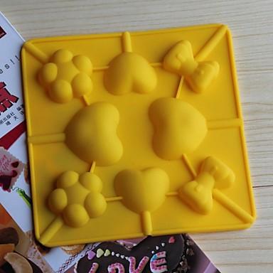 moldes de silicone bakeware lollipop cozimento por bolo de chocolate jelly (cores aleatórias)