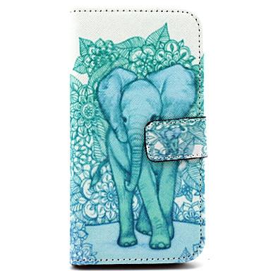 Para Samsung Galaxy Capinhas Porta-Cartão / Com Suporte / Flip / Estampada Capinha Corpo Inteiro Capinha Elefante Couro PU Samsung E7