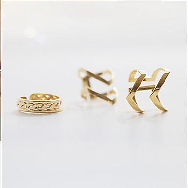 Anéis Casamento / Pesta / Diário / Casual Jóias Liga Feminino Anéis Meio Dedo 1conjunto,6 / 7 / 8 Dourado / Prateado