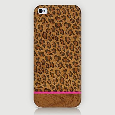 tampa do caso da parte traseira do telefone do teste padrão do grão do leopardo para iphone5c casos do iphone