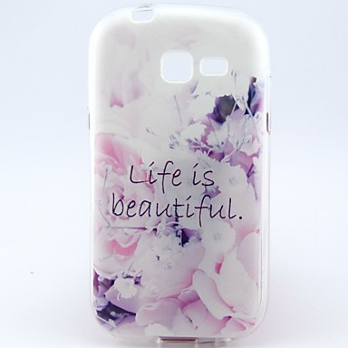 Για Samsung Galaxy Θήκη Με σχέδια tok Πίσω Κάλυμμα tok Λουλούδι TPU Samsung Trend Lite