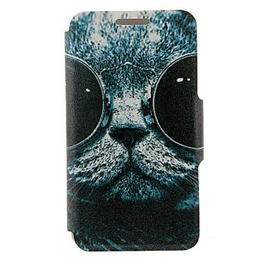 Para Samsung Galaxy Note Porta-Cartão / Com Suporte / Flip Capinha Corpo Inteiro Capinha Gato Couro PU SamsungNote 5 Edge / Note 5 / Note