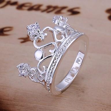 Κρίκοι Γάμου / Πάρτι / Καθημερινά / Causal Κοσμήματα Επάργυρο Γυναικεία Εντυπωσιακά Δαχτυλίδια 1pc,8 Ασημί