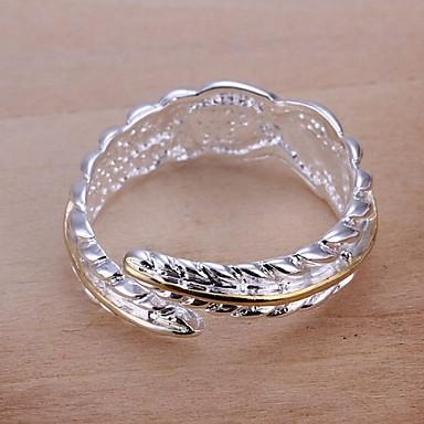Mulheres Maxi anel Fashion Prata Chapeada Jóias Casamento Festa Diário Casual