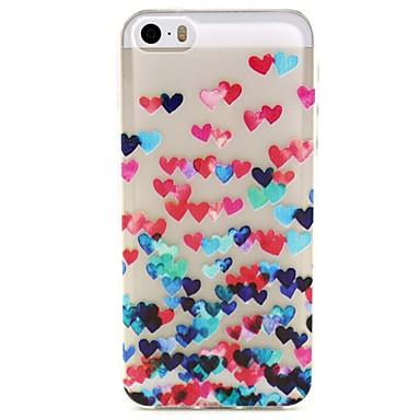 Για Θήκη iPhone 5 Διαφανής / Με σχέδια tok Πίσω Κάλυμμα tok Καρδιά Μαλακή TPU iPhone 7 Plus / iPhone 7 / iPhone SE/5s/5