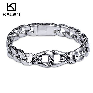 Kalen nieuw design sieraden titanium roestvrij stalen heren armband