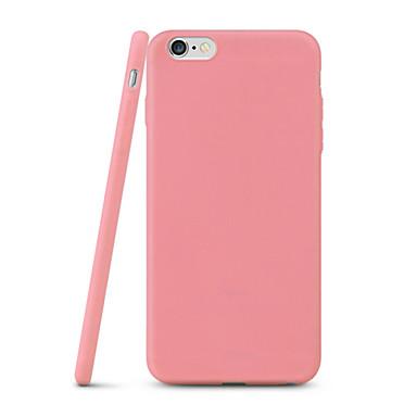 Capinha Para Apple iPhone X iPhone 8 iPhone 7 iPhone 7 Plus iPhone 6 iPhone 6 Plus Ultra-Fina Capa Traseira Côr Sólida Macia TPU para