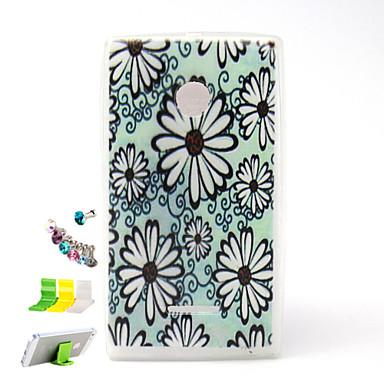 Για Θήκη Nokia Ανάγλυφη tok Πίσω Κάλυμμα tok Λουλούδι Μαλακή TPU Nokia Nokia Lumia 435