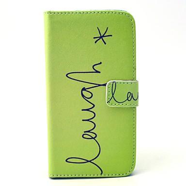 Για Samsung Galaxy Θήκη Πορτοφόλι / Θήκη καρτών / με βάση στήριξης / Ανοιγόμενη tok Πλήρης κάλυψη tok Λέξη / Φράση Συνθετικό δέρμα Samsung