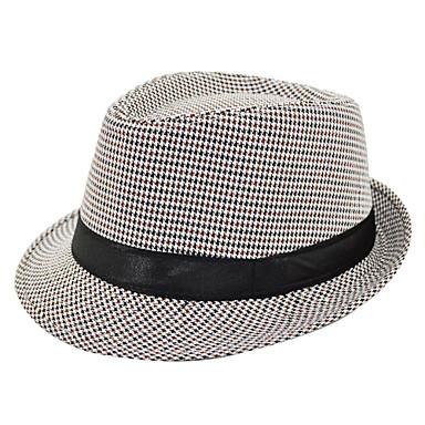 Unisex Vintage Polyester Fedora Şapka / Hasır Şapka Solid / Şapka ve Kep / Çok Renkli / Tüm Mevsimler