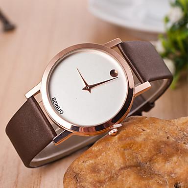 yoonheel Dames Vrijetijdshorloge Modieus horloge Kwarts Leer Band Zwart Wit Bruin