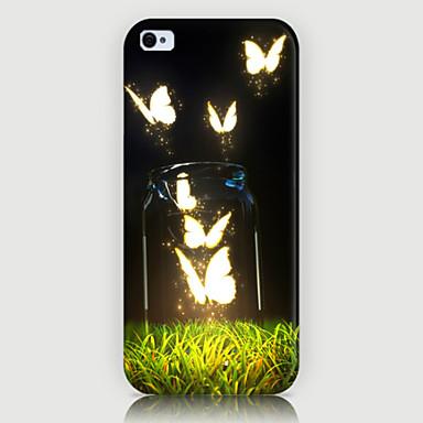 a tampa do caso da parte traseira do telefone do teste padrão da borboleta para iphone5c casos do iphone
