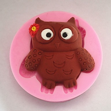 bakeware σιλικόνη καλούπια υπέροχη κουκουβάγια ψησίματος για κέικ σοκολάτας ζελέ (τυχαία χρώματα)