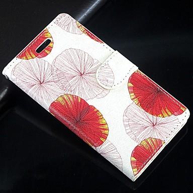 Недорогие Чехлы и кейсы для Galaxy S4 Mini-листьев лотоса искусственная кожа всего тела бумажник защитный чехол с подставкой и слот для карт Samsung Galaxy S4 мини i9190