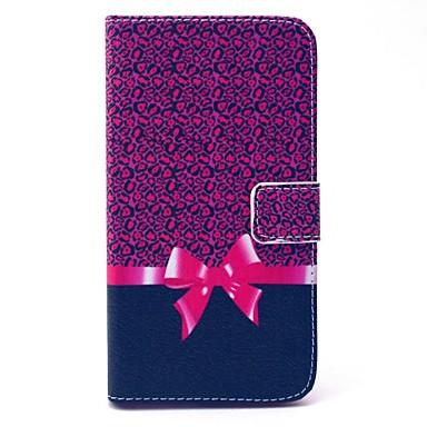 padrão de leopardo arco de couro pu caso de corpo inteiro com suporte e suporte de cartão para Samsung Galaxy grande g530h privilegiada