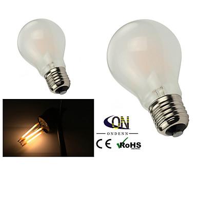 e26 / e27 led gloeilampen a60 (a19) 6 cob 600lm warm wit 2800-3200k dimbaar ac 220-240 ac 110-130v