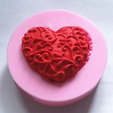 bakvormen siliconen hart bakvormen voor chocoladetaart gelei (willekeurige kleuren)