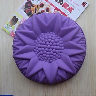 bakvormen siliconen zonnebloem bakvormen voor chocoladetaart gelei (willekeurige kleuren)