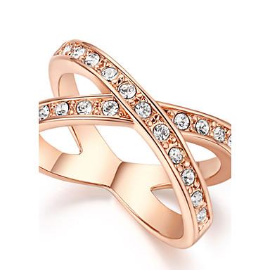 Dames Kristal Zilver Gouden Gesimuleerde diamant Birthstones Geboortestenen Eenvoudige Stijl Dagelijks Kostuum juwelen