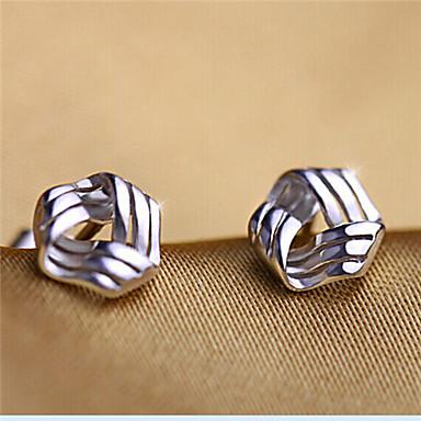 Dames Oorknopjes Liefde leuke Style Eenvoudige Stijl Sterling zilver Zilver Geometrische vorm Sieraden Zilver Feest Dagelijks Causaal