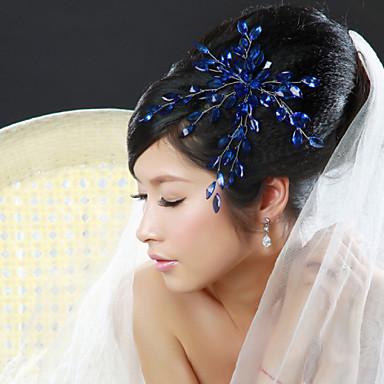 Cristal Tecido Liga Tiaras Flores 1 Casamento Ocasião Especial Festa / Noite Capacete