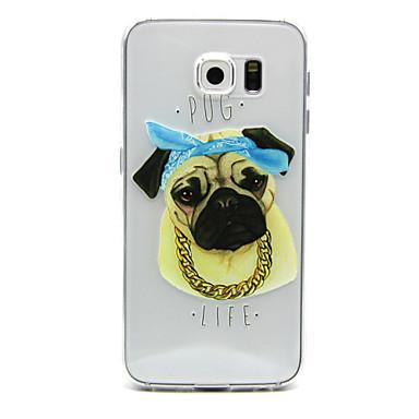 Voor Samsung Galaxy hoesje Ultradun / Transparant / Reliëfopdruk hoesje Achterkantje hoesje Hond TPU Samsung S6