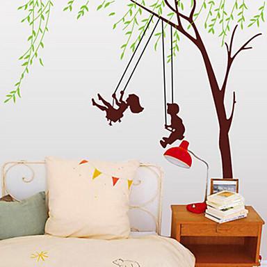 ευτυχισμένη παιδική ηλικία αυτοκόλλητο PVC τοίχο