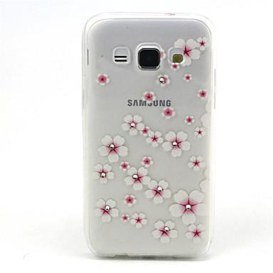 Voor Samsung Galaxy hoesje Strass / Transparant / Patroon hoesje Achterkantje hoesje Bloem TPU Samsung A3