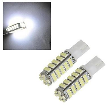 2pcs 2.5W 150-200lm T10 Διακοσμητικό Φως 68led LED χάντρες SMD 2835 Διακοσμητικό Ψυχρό Λευκό 12V / 1 τμχ / RoHs / CCC
