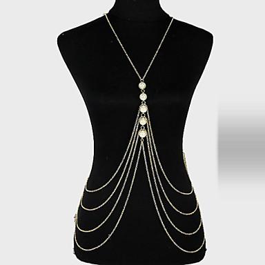 preiswerte Körperschmuck-Damen Körperschmuck Körper-Kette / Bauchkette Gold damas / Einzigartiges Design / Party Künstliche Perle / Aleación Modeschmuck Für Party Sommer