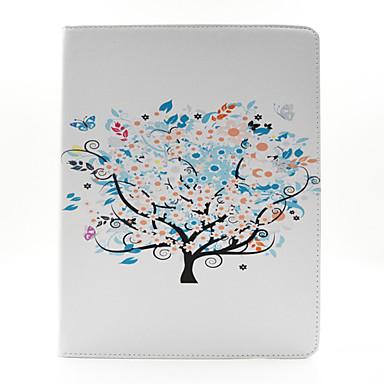 de boom patroon pu lederen tas te dekken met standaard en kaarthouder voor iPad 2/3/4