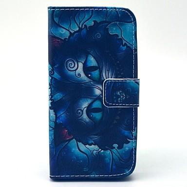 Για Samsung Galaxy Θήκη Πορτοφόλι / Θήκη καρτών / με βάση στήριξης / Ανοιγόμενη tok Πλήρης κάλυψη tok Γάτα Συνθετικό δέρμα Samsung S5 Mini