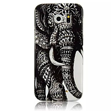 Voor Samsung Galaxy hoesje Patroon hoesje Achterkantje hoesje Olifant TPU Samsung S6