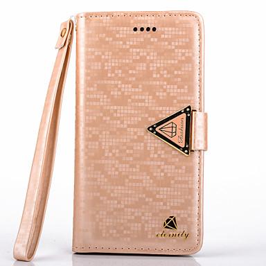 Para Samsung Galaxy Note Carteira / Porta-Cartão / Com Suporte / Flip Capinha Corpo Inteiro Capinha Brilho com Glitter Couro PU Samsung