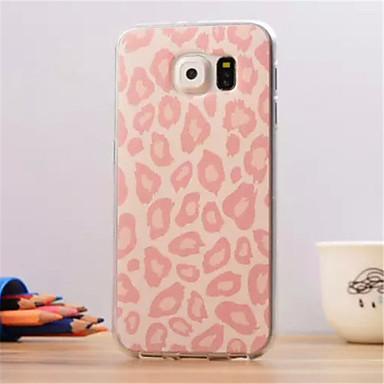 ροζ μοτίβο λεοπάρδαλη σιτηρών υπέρλεπτων TPU μαλακό πίσω κάλυμμα για το Samsung Galaxy S6