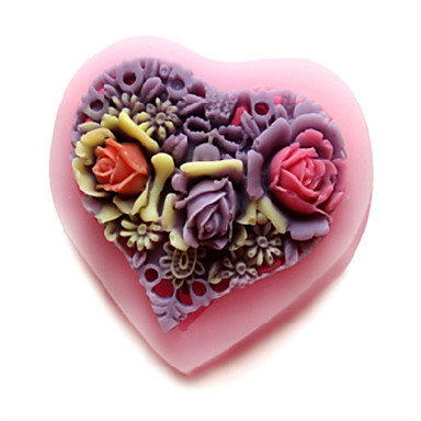 καλούπια bakeware καρδιά σιλικόνη ψησίματος για γλυκά φοντάν κέικ σοκολάτας