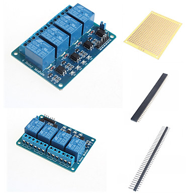 4 manieren relais module met optocoupler en toebehoren
