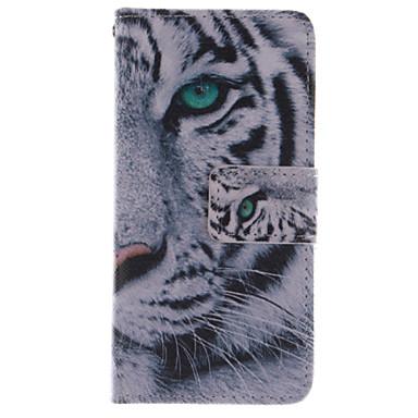 Para Samsung Galaxy Capinhas Carteira / Porta-Cartão / Com Suporte / Flip Capinha Corpo Inteiro Capinha Animal Couro PU Samsung S4 Mini