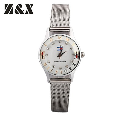 damesmode diamant beer kwarts analoge wijzerplaat stalen band horloge (verschillende kleuren)
